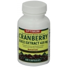 Optimum Cranberry Juice Extract Capsules, 425mg, 100ct