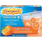 Emergen-C Immune Plus Supplement, Orange, 30 Count