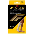 Futuro Therapeutic Stocking for Men & Women, Open Toe/heel Beige, Firm Compression, Size Medium