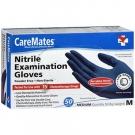 CareMates Nitrile Examination Gloves, Powder Free, Medium- 50ct