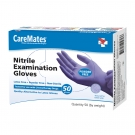 CareMates Nitrile Examination Gloves, Powder Free, Large- 50ct