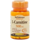 Sundown Naturals L-Carnitine 500 mg Dietary Supplement Tablets - 30ct