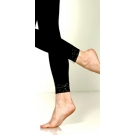 Foot Traffic Microfiber Leggings with Lace Trim, Black- 3 pack ** Extended Lead Time **