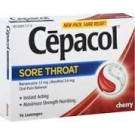 Cepacol Sore Throat Lozenges, Cherry - 16ct