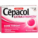 Cepacol Sore Throat Pain Relief Lozenges Sugar Free, Cherry- 16ct