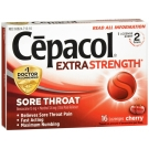 Cepacol Sore Throat Extra Strength Lozenges, Cherry - 16ct