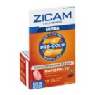 Zicam Cold Remedy RapidMelts Quick Dissolve Tablets, Cherry- 18ct