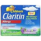 Claritin Children's 24 Hour Allergy Relief, Grape, Chewables Tablets - 30ct