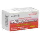 Major Children's 80mg Chewable Mapap Tablets Fruit Flavor 30ct