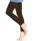 Foot Traffic Fleece Lined Leggings, Chocolate