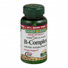 Nature's Bounty B-complex With Folic Acid Plus Vitamin C Tablets 125ct