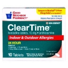 GNP® Clear Time Loratadine 10mg Tablets- 10ct