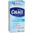 Colace® Docusate Sodium Stool Softener, 100mg- 60ct