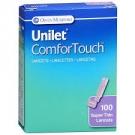 Unilet Comfort Lancets 26G- 100ct
