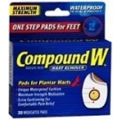 Compound W One Step Plantar Pads - 20