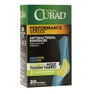 Curad Performance Series Antibacterial Bandages, 1 x 3.25