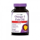 Natrol Omega-3 Fish Oil Lemon 1000 mg - 90 Softgels
