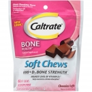 Caltrate Soft Chews, Chocolate Truffle 600+ D3, 60ct
