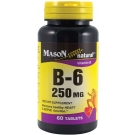 Mason Natural Vitamin B-6 250 mg Tablets 60ct