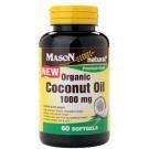 Mason Natural Organic Coconut Oil 1000mg Softgels 60ct
