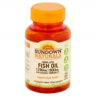 Sundown Naturals Fish Oil 1290mg Odorless Omega 3 Mini Softgels 72ct