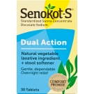 Senokot-S® Natural Vegetable Laxative Ingredient Plus Stool Softener- 30ct