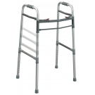 Deluxe Designer Two Button Folding Universal Walker Adult/Junior - Aluminum Gray