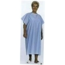 Deluxe Gown with Snaps Blue C3022*****NO LONGER STOCKING PRODUCT****DEEP DISCOUNT***ONLY 3 LEFT IN STOCK***