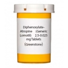 Diphenoxylate-Atropine (Generic Lomotil) 2.5-0.025 mg Tablets (Greenstone)