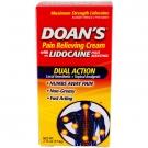 Doan's Pain Relieving Cream with 4% Lidocaine Plus Menthol - 2.75 oz