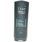 Dove Men+Care Clean Comfort Mild Formula Body and Face Wash with Micro Moisture 13.5 Ounces