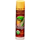 Badger Lip Balm, Vanilla Madagascar - .15oz Stick, 18ct ** Extended Lead Time**