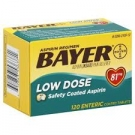 Bayer Aspirin Regimen Low Dose 81mg, Safety Coated Enteric Tablets- 120ct