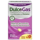 DulcoGas Maximum Strength Gas Relief, Tangy Citrus Chew- 18ct