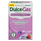 DulcoGas Maximum Strength Gas Relief, Wild Berry Chew- 18ct