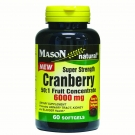 Mason Natural Cranberry Super Strength 50:1 Fruit Concentrate Softgels - 60ct