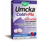 Nature's Way Umcka Cold & Flu Chewables, Berry, 20 ct