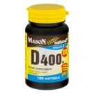 Mason Natural Vitamin D400 Iu Softgels for Bone and Joint Health 100ct