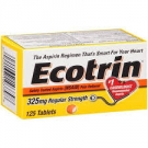 Ecotrin 325 mg Regular Strength, Tablets- 125ct