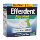 Efferdent Tablets Plus Mint - 44ct