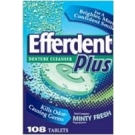 Efferdent Plus Denture Cleanser Minty Fresh - 108 Tablets