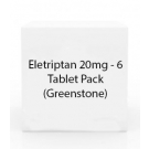 Eletriptan 20mg - 6 Tablet Pack (Greenstone)