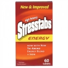 Stresstabs Energy High Potency B-Complex With Antioxidants C And E, And Folic Acid + Iron, Tablets - 60ct