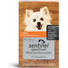 Sentinel Spectrum (For Dogs 2-8 lbs) Chewables- 6 Month Pack