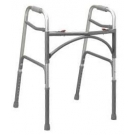 Essential Deep Frame Two Button Bariatric Folding Walker- Steel Gray******ONLY 2 LEFT IN STOCK********