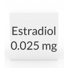 Estradiol 0.025mg Patch (8 Patch Pack) - Twice Weekly