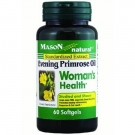 Mason Natural Evening Primrose Oil Woman's Health Softgels, 60 Ct