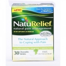 NatuRelief Natural Pain Management Chewable Tablets, 30 ct
