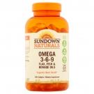 Sundown Naturals Triple Omega 3-6-9, Softgels 200ct