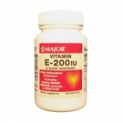 Major Vitamin E 200 IU Softgels 100ct